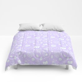 Herb Witch // Purple Pastel Comforters