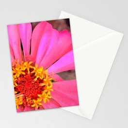 Happy Pink Petunia Flower With Missing Petal Stationery Cards