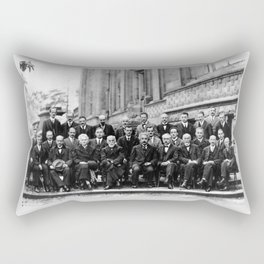 World-Renowned Physicists of 1927 at Solvay Conference Rectangular Pillow