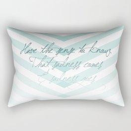 sadness comes & sadness goes Rectangular Pillow