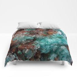 Dark Rust & Teal Quartz Comforters