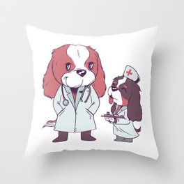 Medical Cavaliers Throw Pillow