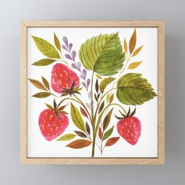 Early Summer Strawberries Are The Sweetest Framed Mini Art Print