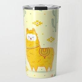 Alpaca summer Travel Mug