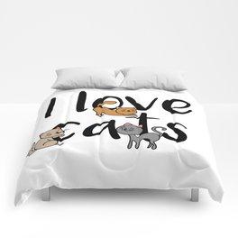 I love cats Cat Kitty Kittens Meow Tabby Kitten Comforters