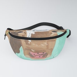 A Cow Named Banana Face Fanny Pack