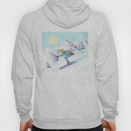 Skiing Girl Hoody