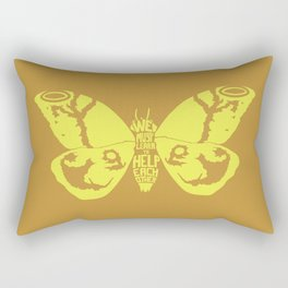 We Must Learn to Help Each Other -Mothra vs. Godzilla Rectangular Pillow
