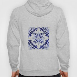 Azulejo V - Portuguese hand painted tiles Hoody
