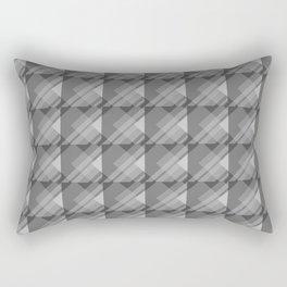 Modern Geometric Pattern 7 in Charcoal Grey Rectangular Pillow
