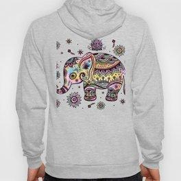 Cute Colorful Elephant Illustration Hoody