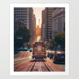San Francisco Trolley (Color) Art Print