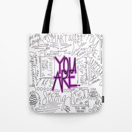 You Are - Fuchsia Tote Bag