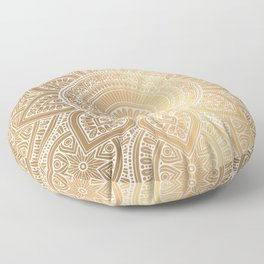 Gold Mandala 3 Floor Pillow