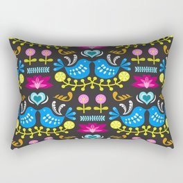 Folk Art Garden Rectangular Pillow