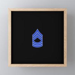 Master Sergeant (Police) Framed Mini Art Print