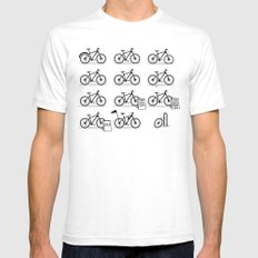 Life Cycle SMALL Mens Fitted Tee White