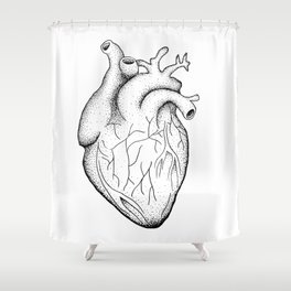 dotwork heart Shower Curtain