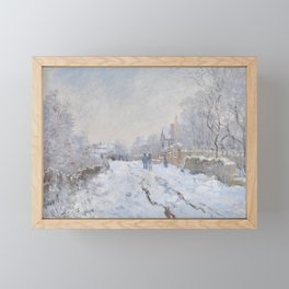 Snow Scene at Argenteuil by Claude Monet Framed Mini Art Print