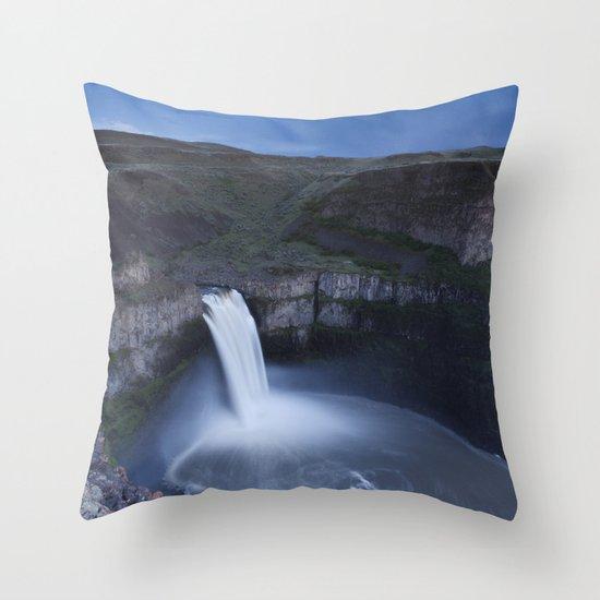 Palouse Falls Moon Throw Pillow