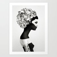 minimal Art Prints featuring Marianna by Ruben Ireland