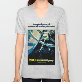 2001 A Space Odyssey 1968 American Lobby Broadside Vintage Film Poster Unisex V-Neck