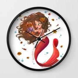 Autumn Mermie Wall Clock