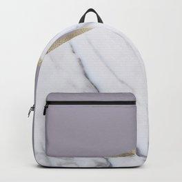 Smokey lilac - gold geometric marble Backpack