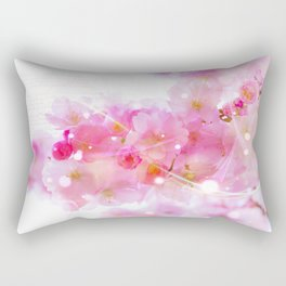 Japanese Sakura Tree with Pastel Pink Blossoms Rectangular Pillow