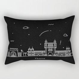 Thane Minimal Nightscape / Skyline Drawing Rectangular Pillow