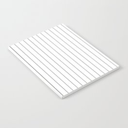 White Black Pinstripes Minimalist Notebook