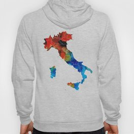 Italy - Italian Map By Sharon Cummings Hoody