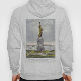 Statue of Liberty Historical Lithograph (1886) Hoody