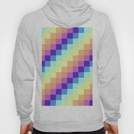 Diagonal Pixel Colorful Hoody