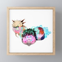 Deku, Baku and Todo Dangos Framed Mini Art Print