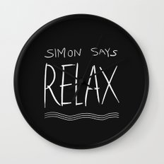 Simon Says Relax B Wall Clock