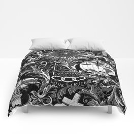 Black and White Woven IOOF Symbolism Tapestry Comforters