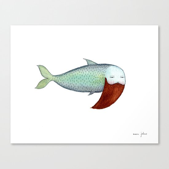 fish with beard Canvas Print