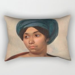 "Eugène Delacroix ""Women in a Blue Turban"" Rectangular Pillow"