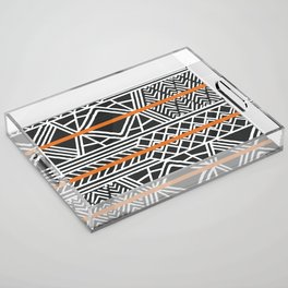 Tribal ethnic geometric pattern 022 Acrylic Tray