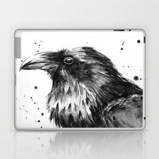 Raven Watercolor Bird Animal Laptop & iPad Skin