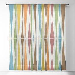 Mid-Century Modern Art 1.4 Sheer Curtain