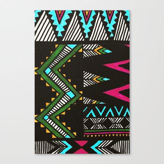 Tribal Dark Canvas Print