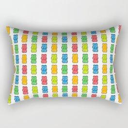 Rainbow Gummy Bears Rectangular Pillow
