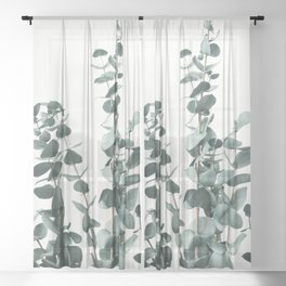 Eucalyptus Leaves Sheer Curtain