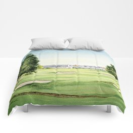 Southern Hills Golf Course 18th Hole Comforters