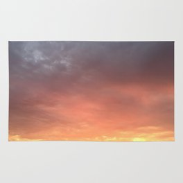 Yellow Red and Gray Sky Rug
