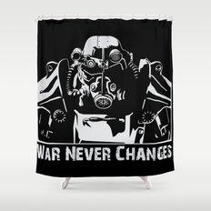 Fallout 3 War Never Changes Shower Curtain