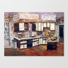 Winter Kitchen Canvas Print