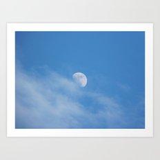 Moon In Clouds Art Print